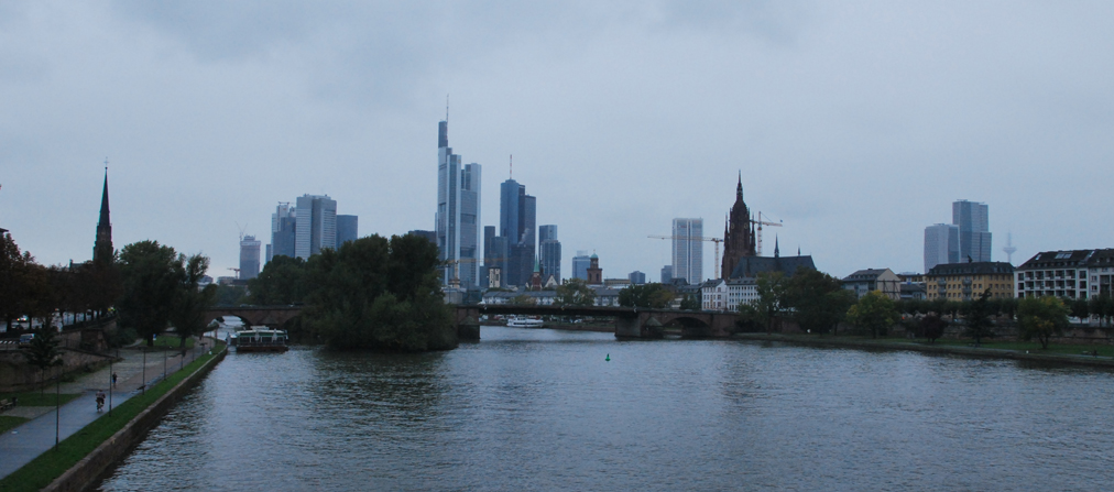 Frankfurt, Germany…. of train problems, language barriers, and poor weather
